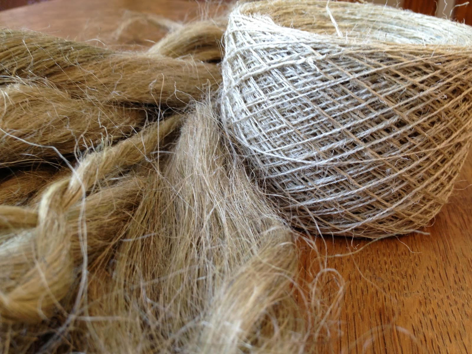 The Inconsequential Blogger: Spinning flax into linen yarn