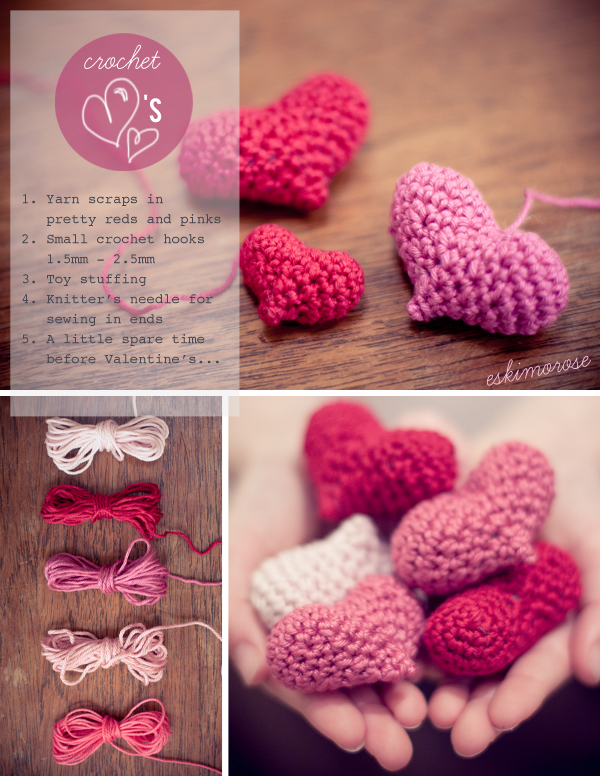 amigurumi crochet hearts pattern by eskimo*rose
