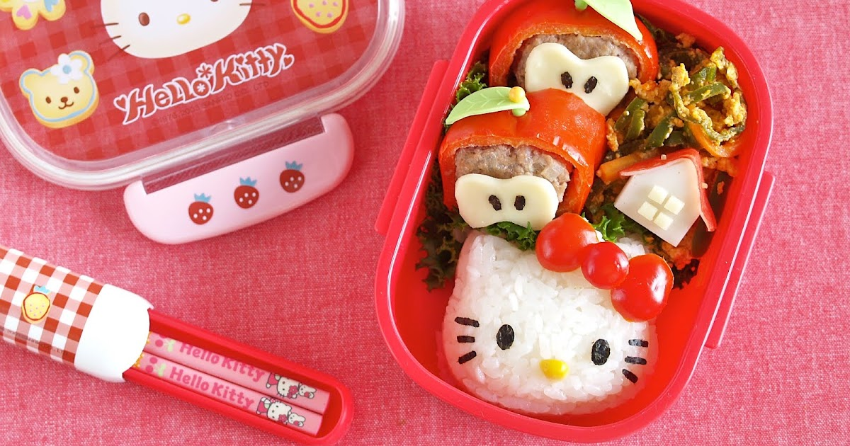 how to make hello kitty bento lunch box video recipe create eat happy kawaii japanese. Black Bedroom Furniture Sets. Home Design Ideas