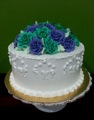 Hantaran kek (Buttercream & English Roses)