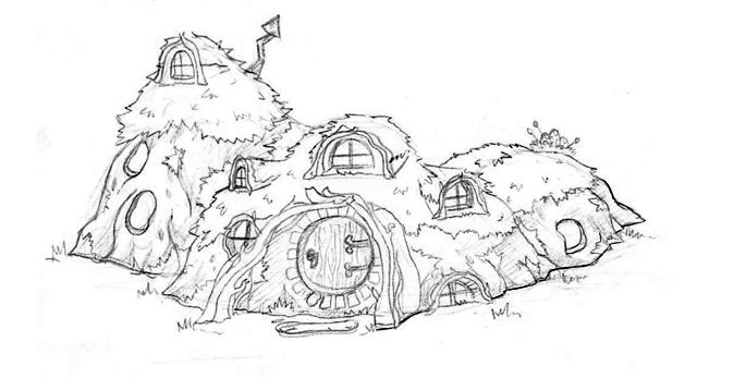 Lillian lai 39 s sketchblog april 2012 for Hobbit house drawings
