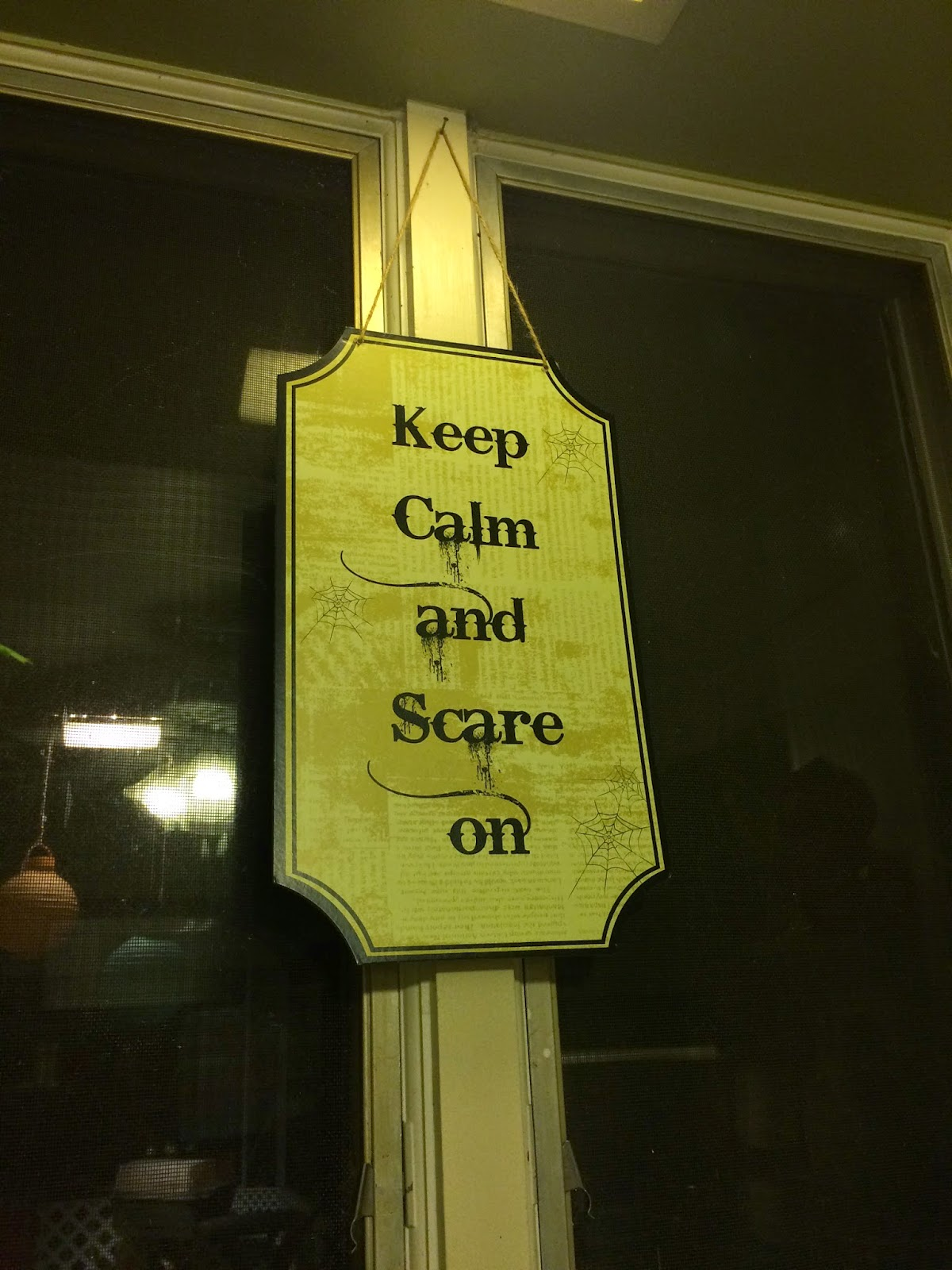 Halloween Keep Calm Sign