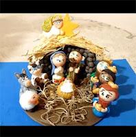 pesebre de navidad en porcelana fria