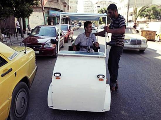 pemandu-teksi-palestin-bina-kereta-elektrik-pertama-di-gaza