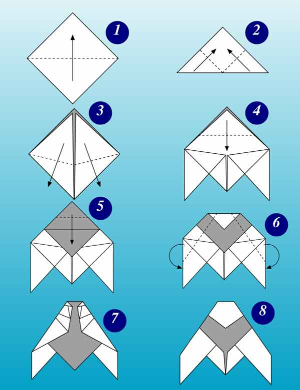 space origami instructions for kids