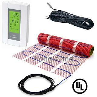electric tile radiant warm floor heat heated mat kit - 120v +