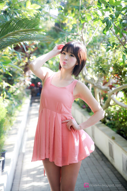 4 Choi Byeol Ha in Pink -Very cute asian girl - girlcute4u.blogspot.com