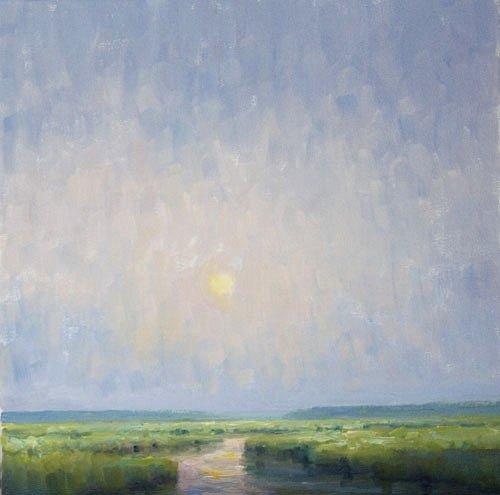 Steve Allrich: New England landscape painting : A Lingering Shimmer