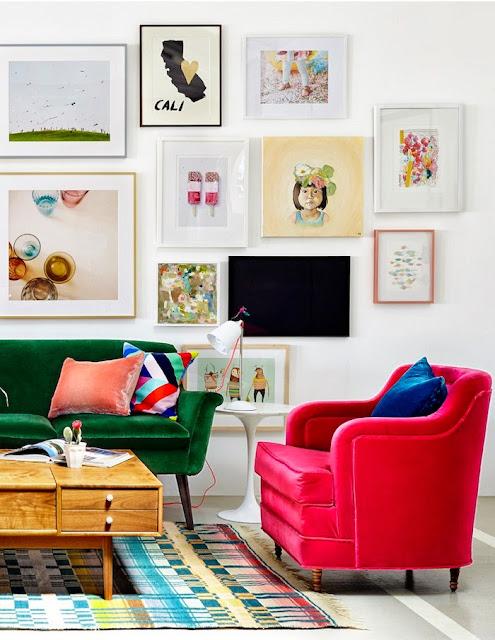 Mid-Century Design in Pop-Farben zum lebensfreudigen Wohnen