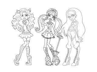 dibujos de monster high
