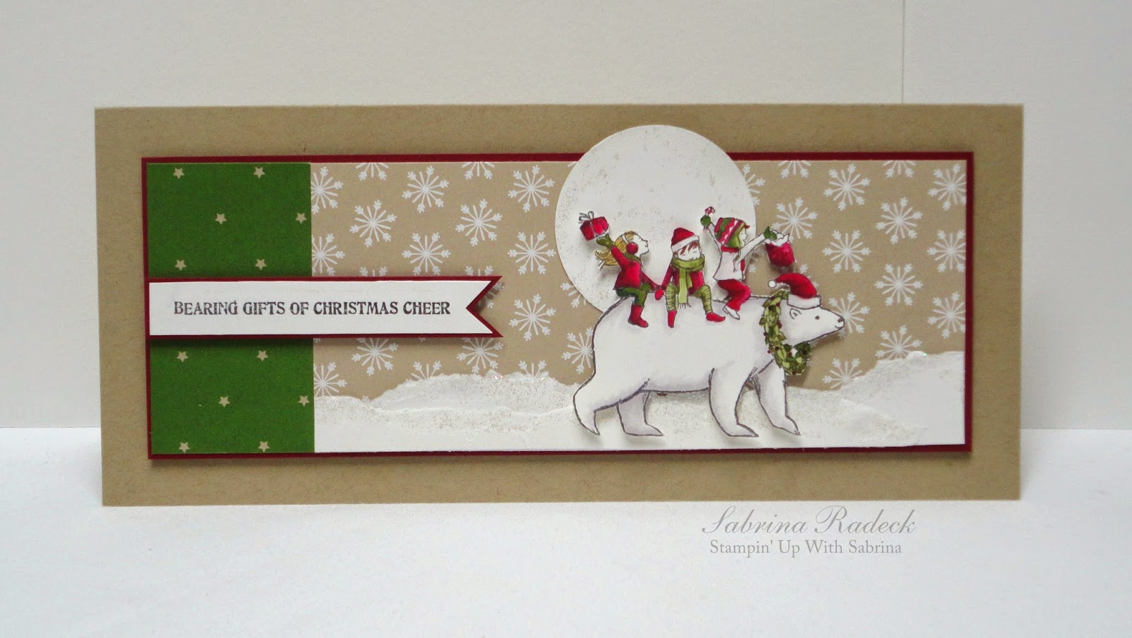 Aspiring To Creativity Polar Bear Christmas Blendabilities