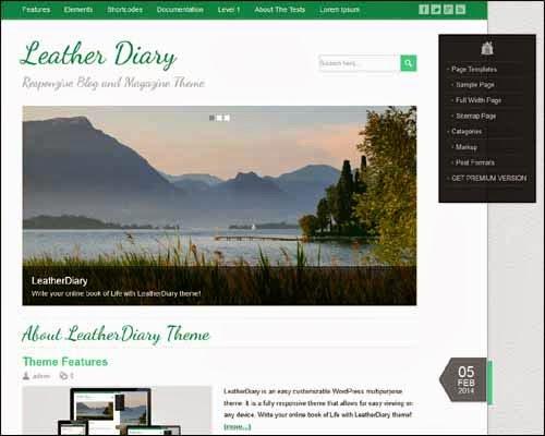 LeatherDiary Free WordPress Theme