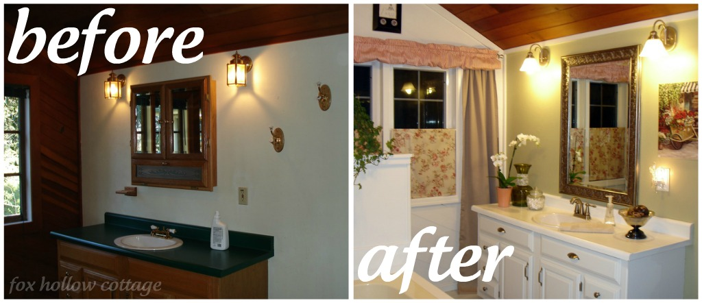 Economical Bathroom Makeovers a super budget bathroom makeover - fox hollow cottage
