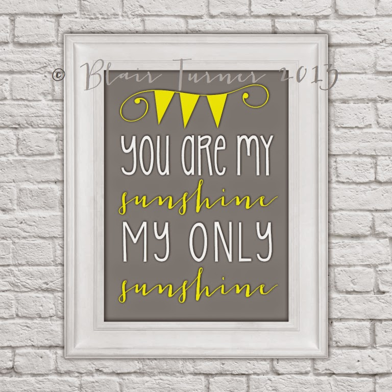 This is a photo of Nifty You Are My Sunshine Free Printable