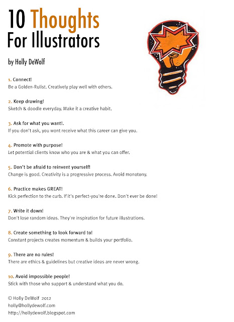 advice for illustrators, career tips, positive thoughts for illustrators