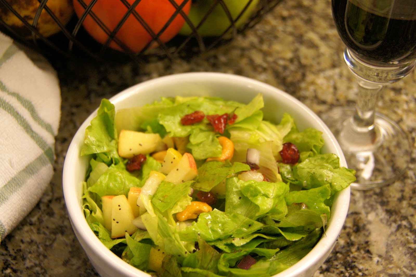Family Food Finds: Autumn Salad with Lemon Poppy Seed Dressing