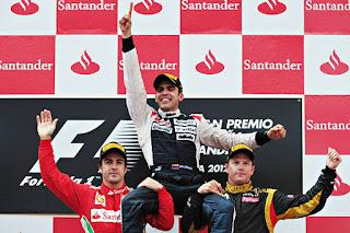 Pastor Maldonado became Formula One's first Venezuelan winner 2012