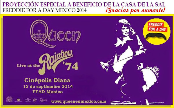 "FREDDIE FOR A DAY MEXICO PREMIER EXCLUSIVA DE QUEEN ""LIVE AT THE RAINBOW"" '74"