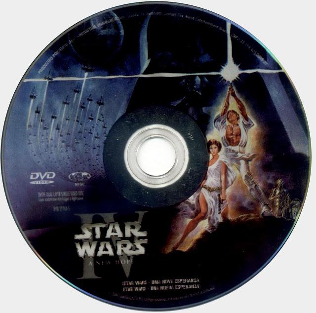 Label DVD Star Wars IV Uma Nova Esperança