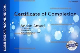 mobile repairing certificate course