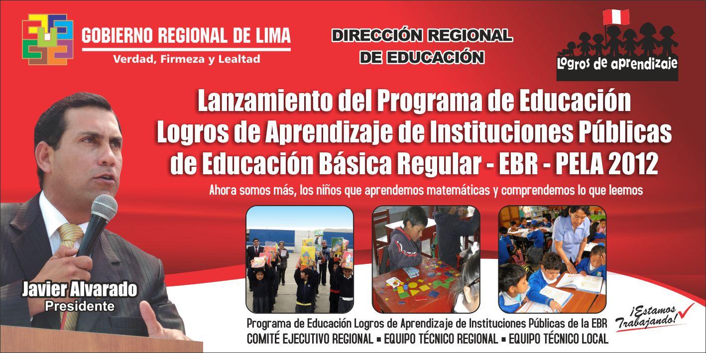... DRELP LANZARÁ PROGRAMA DE EDUCACIÓN LOGROS DE APRENDIZAJE (PELA