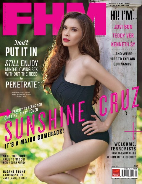 Sunshine Cruz is FHM Cover Babe for April 2013