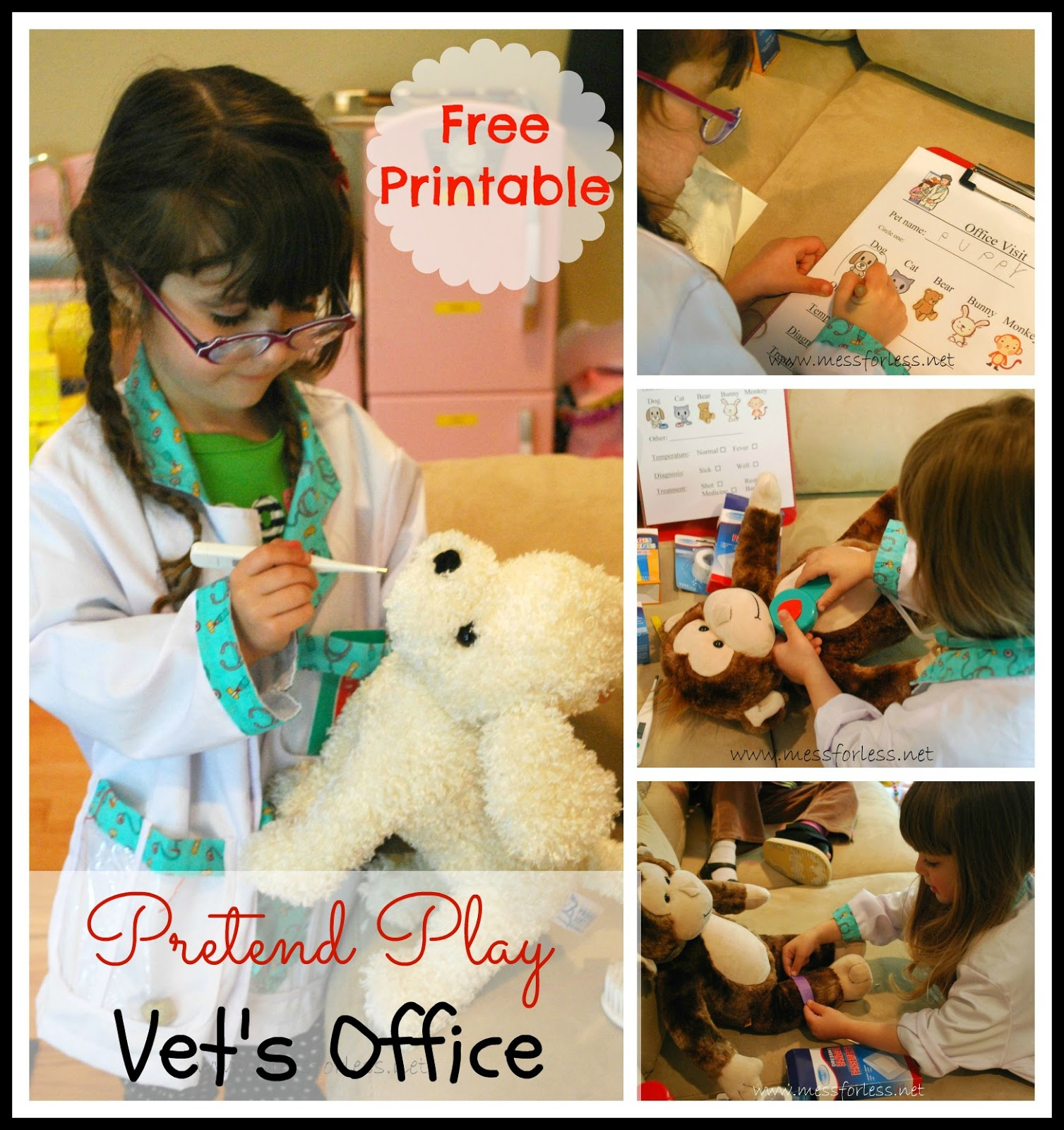 Free Printable For Vets Office Kids kids dramaticplay pretend