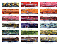 colors for single strand zulugrass jewelry