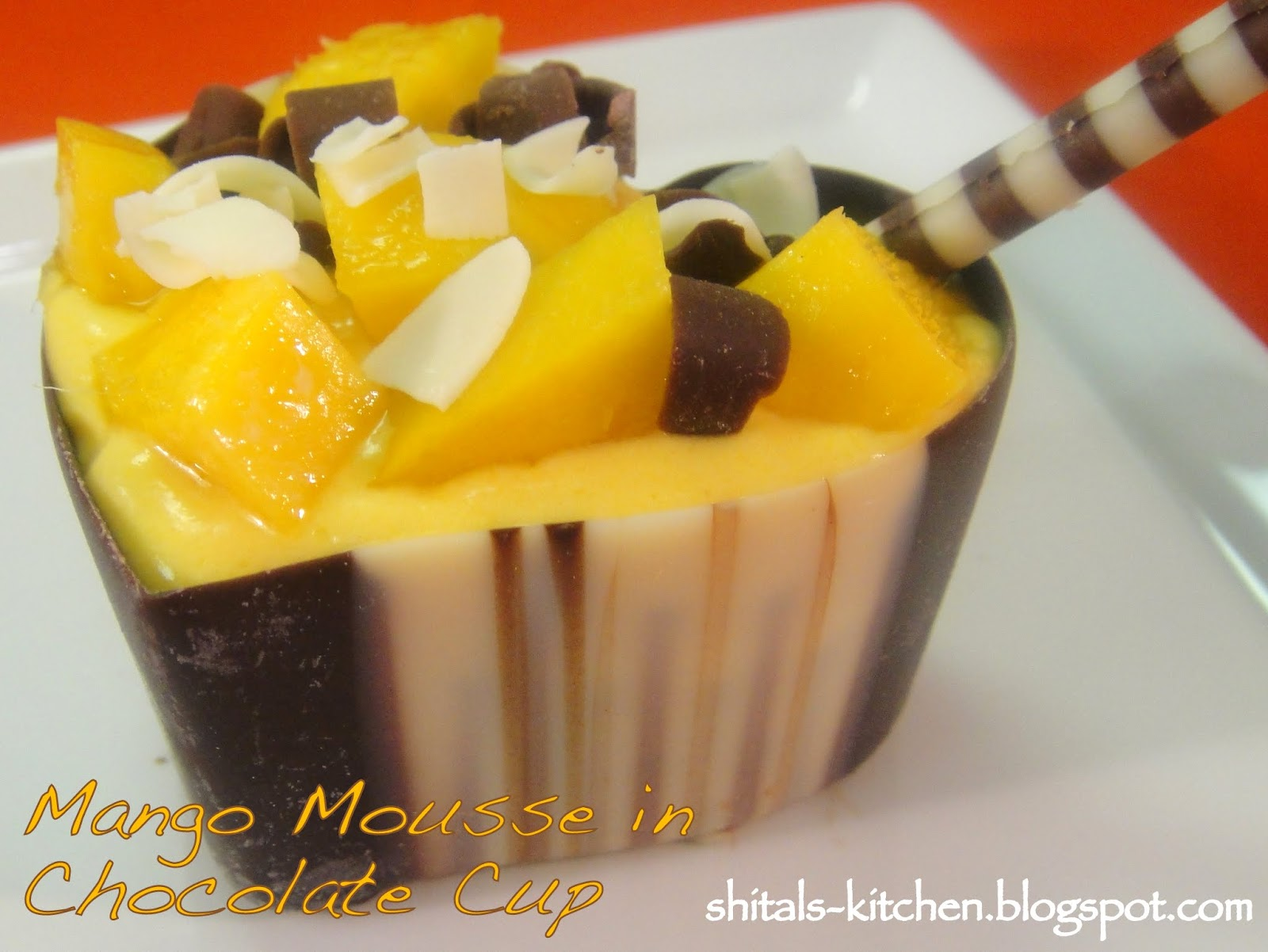 Mango Rice Pudding with Chocolate Shavings pictures