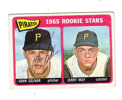 John Gelnar (and Jerry May) 1965 baseball card