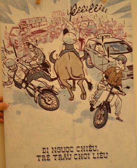 Tranh biếm họa vui về giao thông