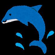 暑中お見舞いのイラスト「イルカ」
