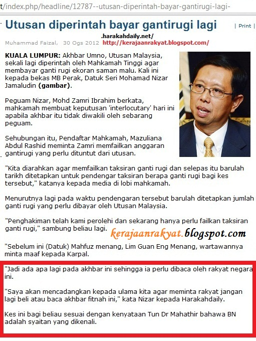 utusan malaysia syaitan umno