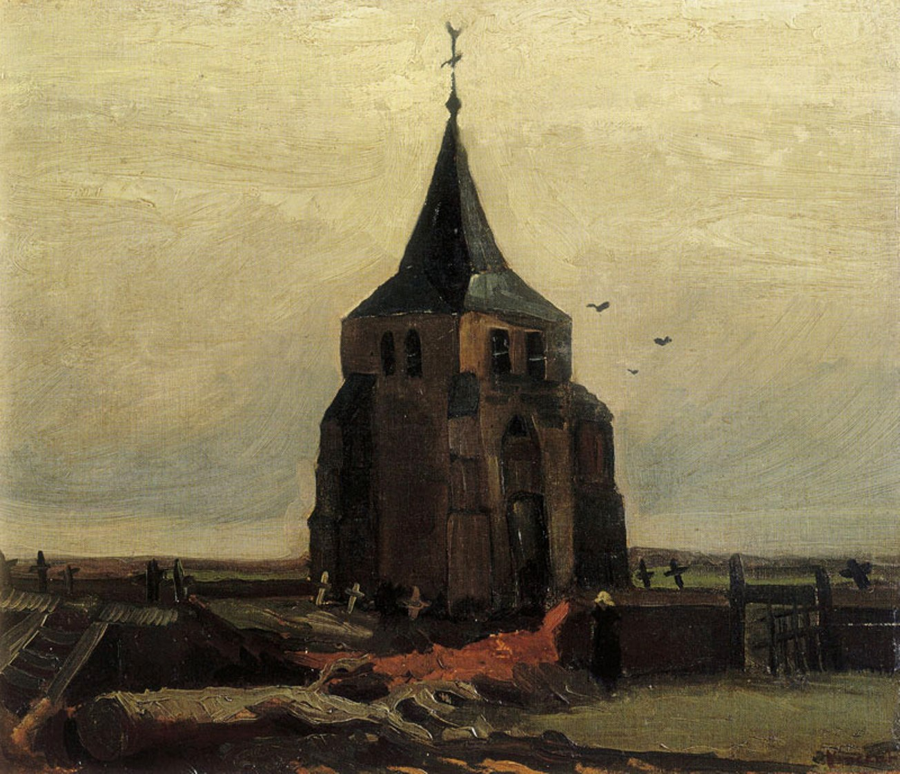 The Old Church Tower at Nuenen by Vincent van Gogh