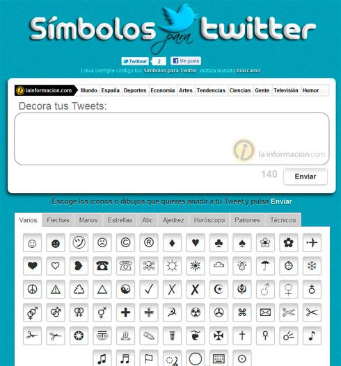 Símbolos Twitter 01