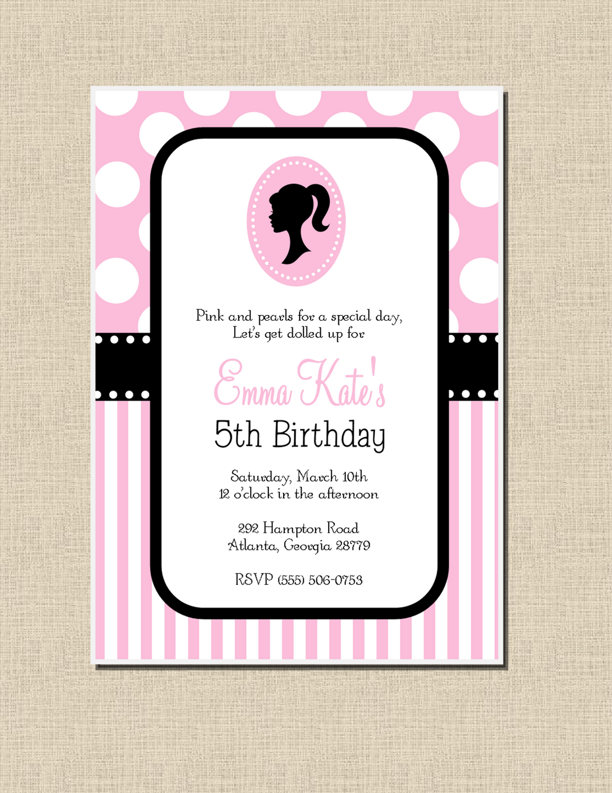 Sweet Peach Paperie - Archive - birthday invitations