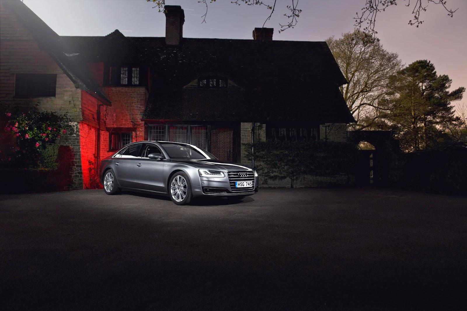 Grey Audi A8L