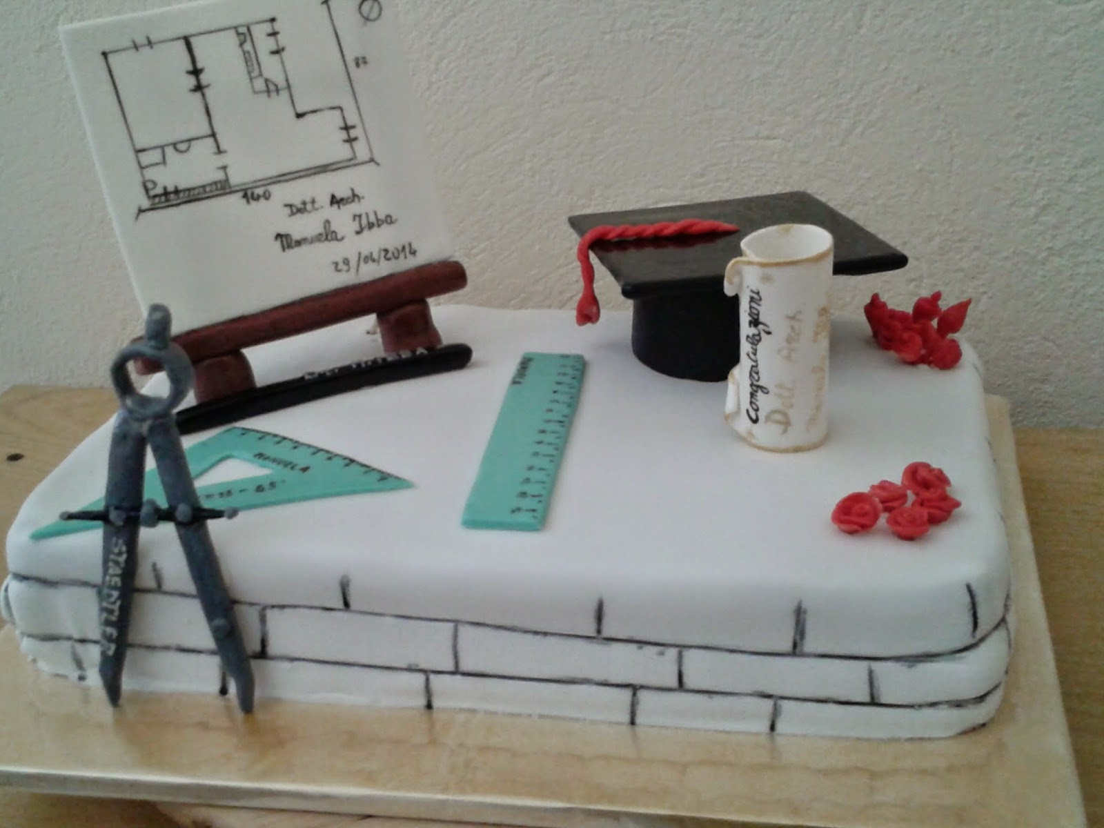 la cucina di afabica torta laurea architettura