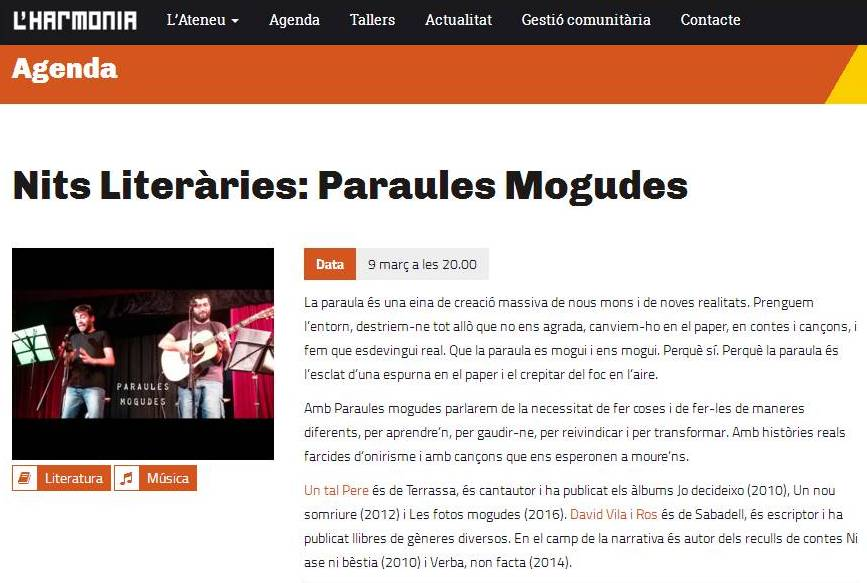 'Paraules mogudes' a Barcelona