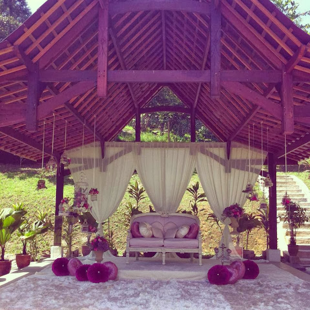 karpet, ungu bunga kain putih