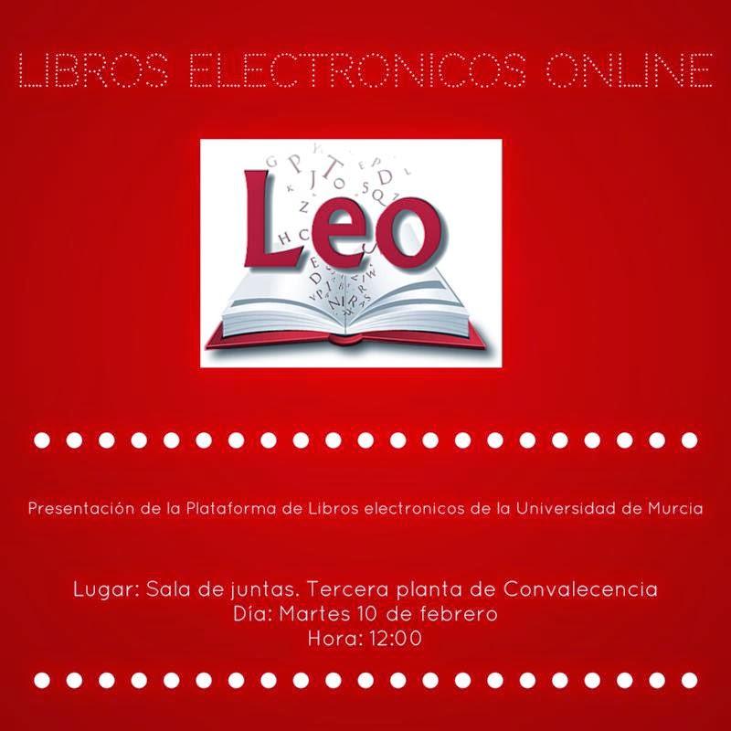 Presentación de Leo, martes 10/02/2015 a las 12,00 en la tercera planta de Convalecencia