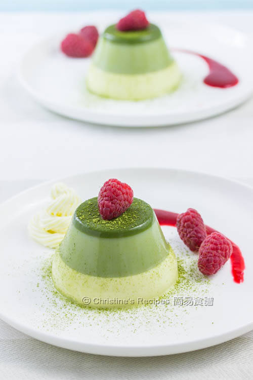 綠茶奶凍 【簡易三層法】Layered Green Tea Panna Cotta