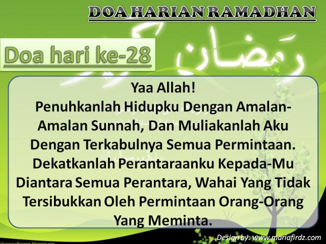 Doa Hari Ke-28