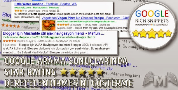 Google Arama Sonuçlarında Star Rating Değerlendirmesini gösterme