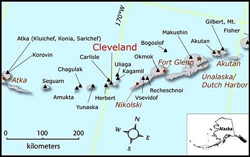 Seguimiento de volcanes de Alaska: Cleveland, Pavlof Cleveland