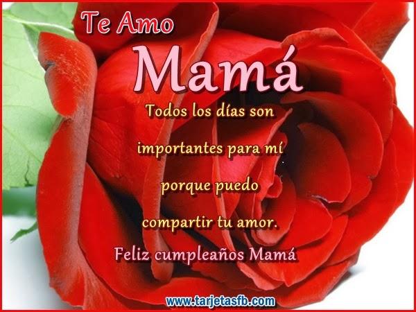 Frases Para Cumpleaños De Mamá: Te Amo Mamá Todos Los Días