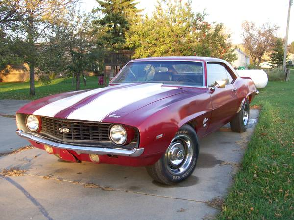 1969 chevrolet camaro ss396 for sale buy american muscle car. Black Bedroom Furniture Sets. Home Design Ideas