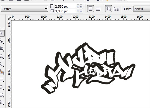 Gambar diatas adalah contoh desain yang saya buat berupa tulisan ...