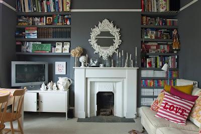 decoración paredes grises