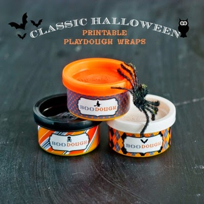 #PlayDohDay party ideas; Halloween printables
